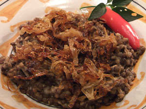 LENTILS AND ONIONS